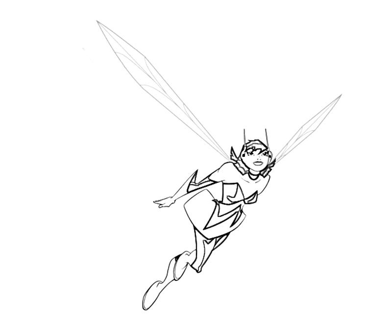 wasp avengers coloring pages - photo#17