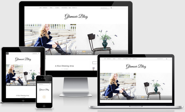 Glamour Personal Responsive Blogger Templates