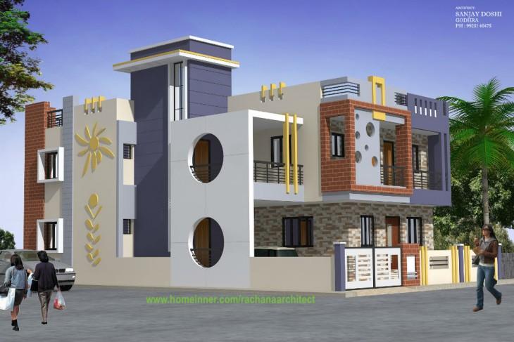 Uttarpradesh Home Design by Rachana Architects