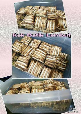 Kek Batik, Resepi Kek Batik Lembut, Cara - Cara Membuat Kek Batik, Bahan - Bahan, Cara Penyediaan Kek Batik Lembut, Resepi, Resipi, Raya, 2018,