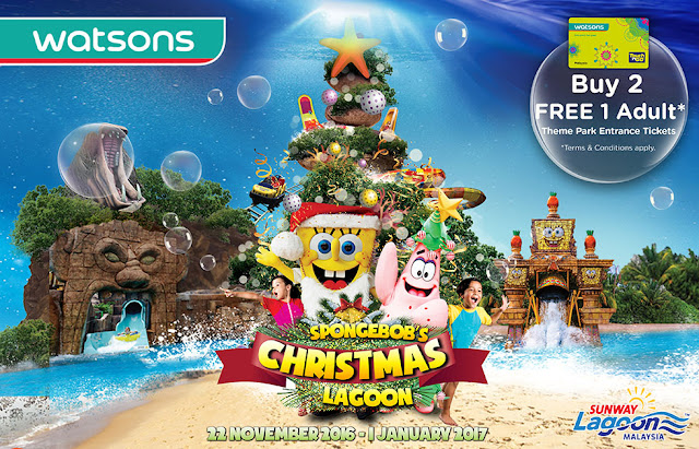 Watsons Malaysia Sunway Lagoon Theme Park Entrance Ticket Buy 2 Free 1 Promo