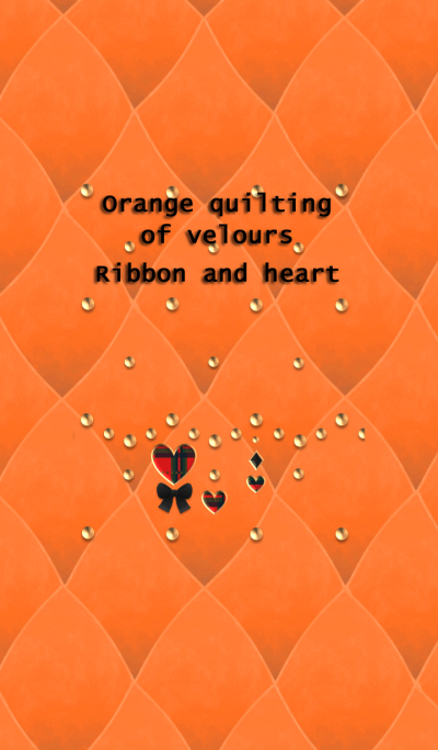 Orange quilting of velours(Ribbon,heart)
