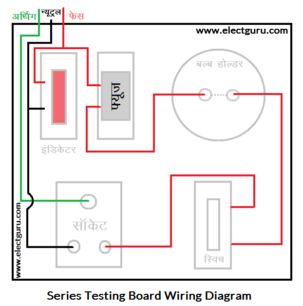Series parallel testing board connection diagram