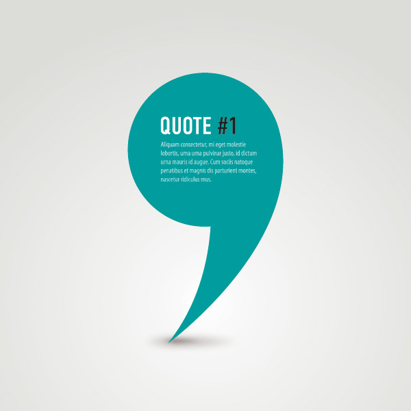 Creative Quote free vector