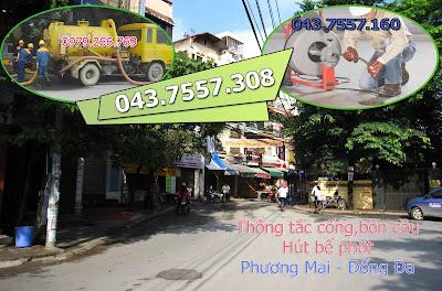 Thông tắc cống tại phường phương mai,thông cống giá rẻ,tắc cống cần thông,thông bồn cầu