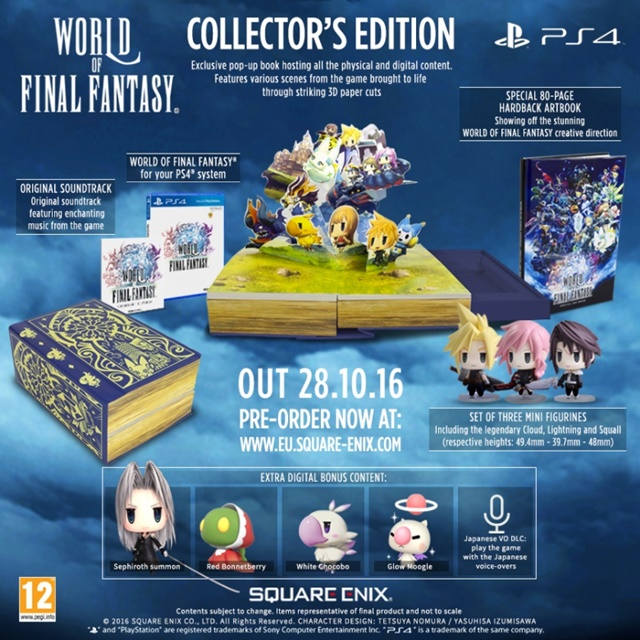 World of Final Fantasy: Square Enix anuncia edición para coleccionistas