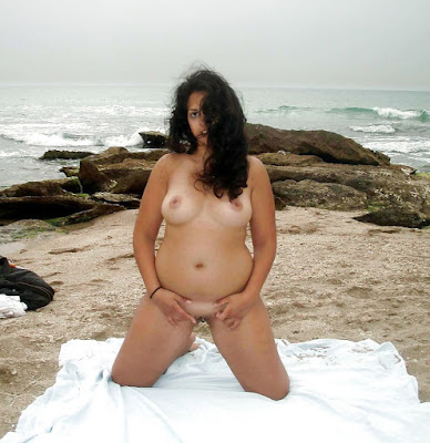 Slutty Indian Wife Naked Sun Bathing