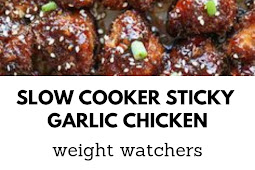 Weight Watchers Slow Cooker Sticky Garlic Chicken