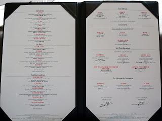 Lunch menu at Sir Elly's