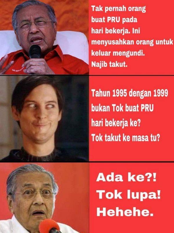 PRU14: Dua kali PRU diadakan pada hari bekerja semasa Mahathir menjadi PM