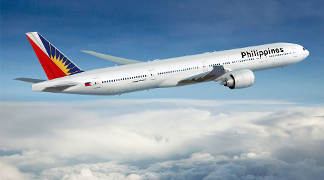 Philippine Airlines Flight Headed to Europe