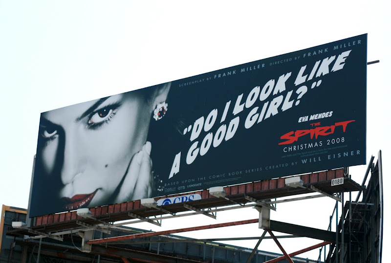 Eva Mendes Spirt movie billboard