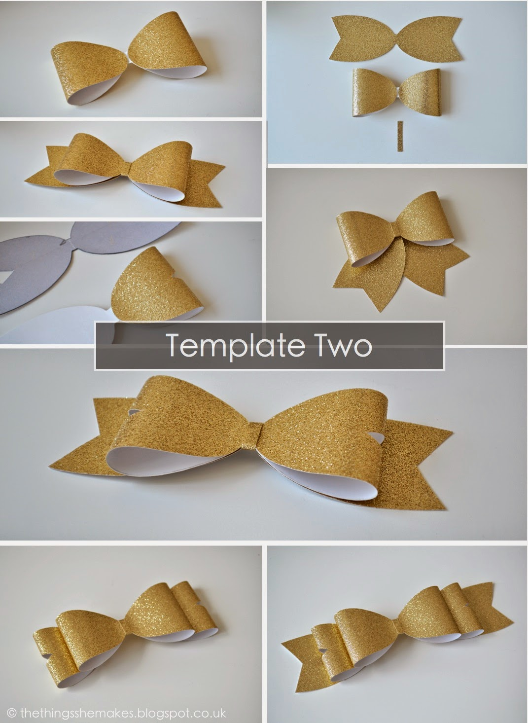 Ultimate bows the things she makes template three structured bow pronofoot35fo Image collections