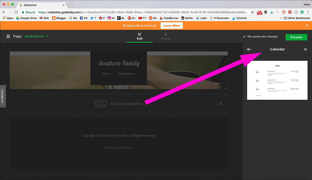 Southern Mom Loves: How to Build a Custom Website in under