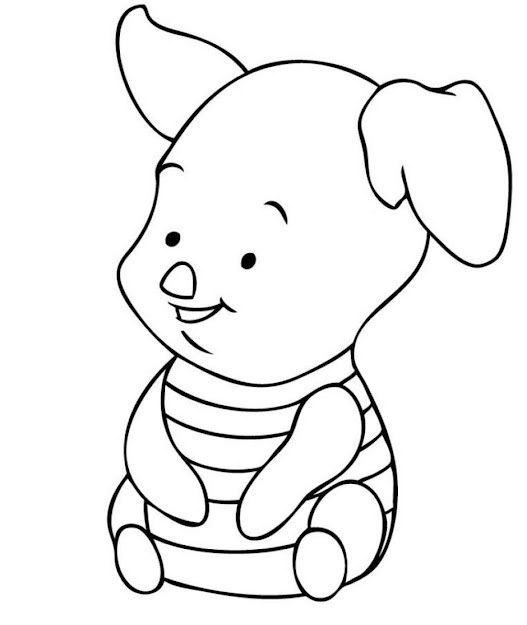 Free Disney Coloring Pages  Pin Baby Pooh Coloring Pages Disney Winnie The  Tigger Eeyore And