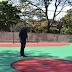 Vereador Lucas Comin acompanha melhorias na quadra do Jardim 22 de Maio