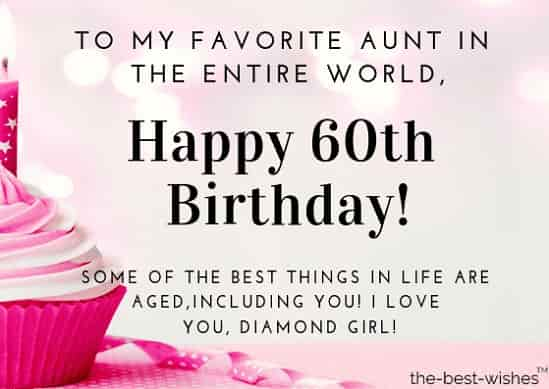 happy 60th birthday wishes for aunt