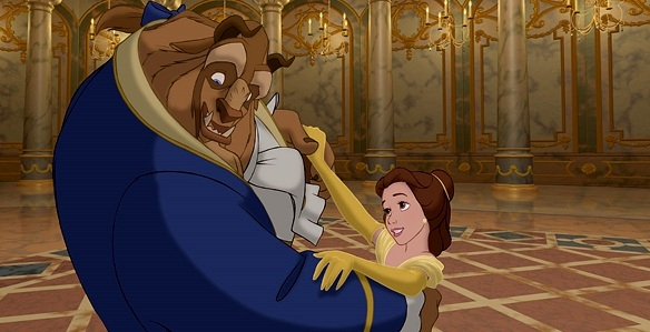 Belle Beast dancing Ballroom Beauty and the Beast 1991 animatedfilmreviews.filminspector.com