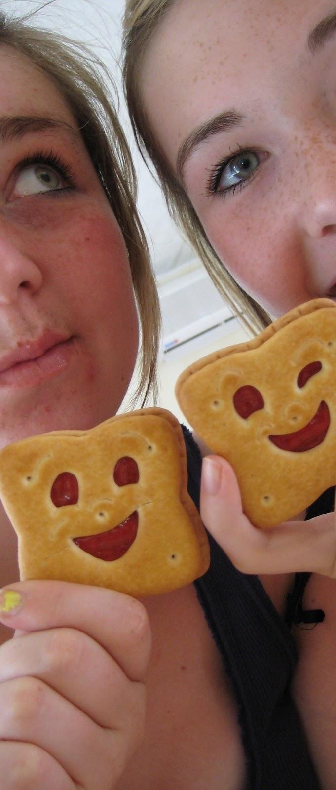 Smiling cookies.