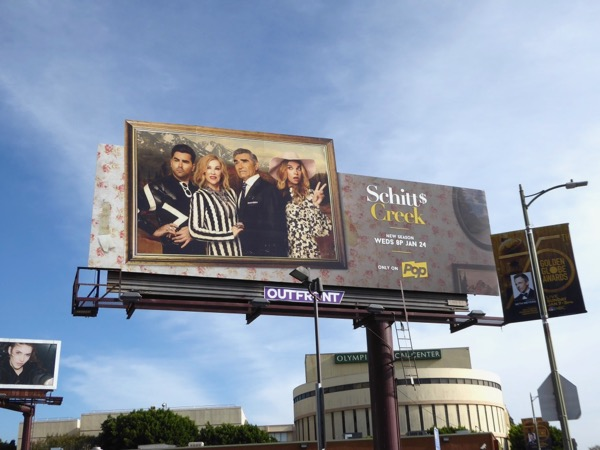 Schitts Creek season 4 extension billboard