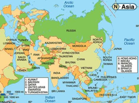 Foto Peta Buta Benua Asia Printablehd Gambar