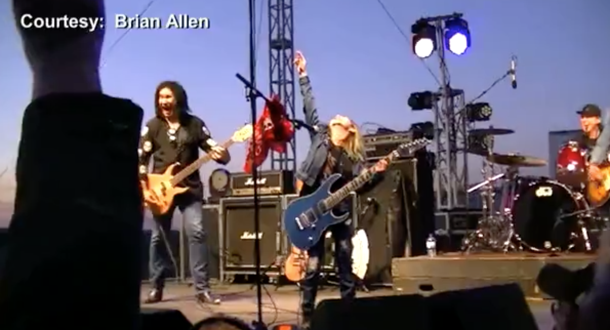 Video: Wichita girl rocks out with Gene Simmons