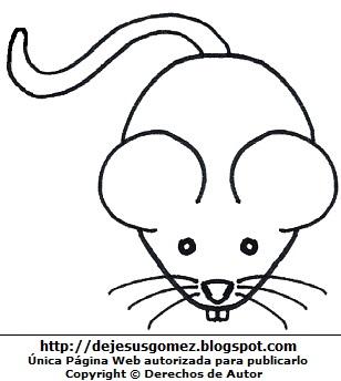 Dibujo de un ratón para colorear, pintar e imprimir. Dibujo del ratón de Jesus Gómez