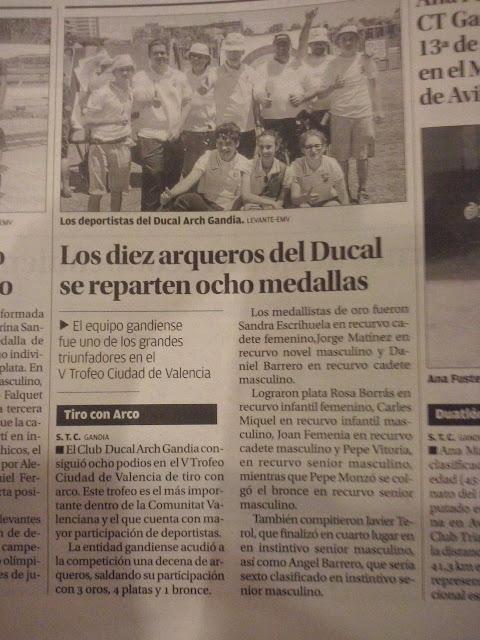 Ducal Arch en el peiódico Levante EMV