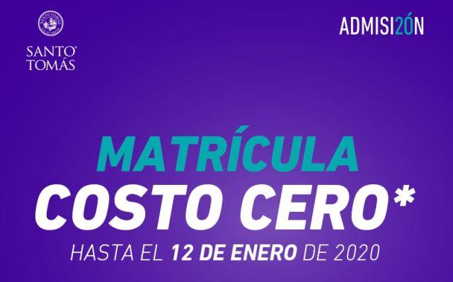 Matrículas costo cero de Santo Tomás se extiende hasta el 12 de enero