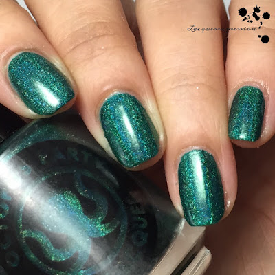 nail polish swatch of menthol nights by octopus party nail lacquer