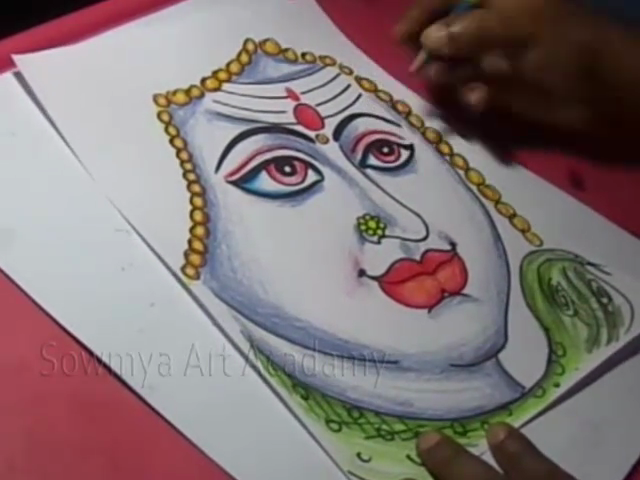 Kids Cartoon Drawings How To Draw Ome Lord Shiva Parvati Drawing