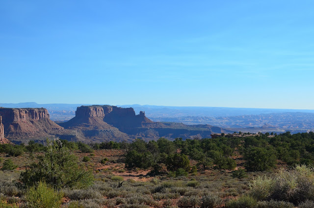 Clean air over Canyonlands NP in Utah