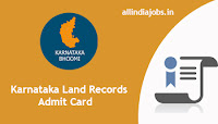 Karnataka Land Records Bandh Peon Admit Card