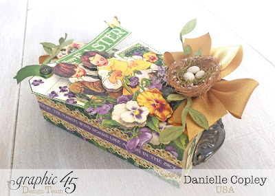 May Art and Graphic 45 Blog Hop Day 3: Easter Matchbook Gift Box