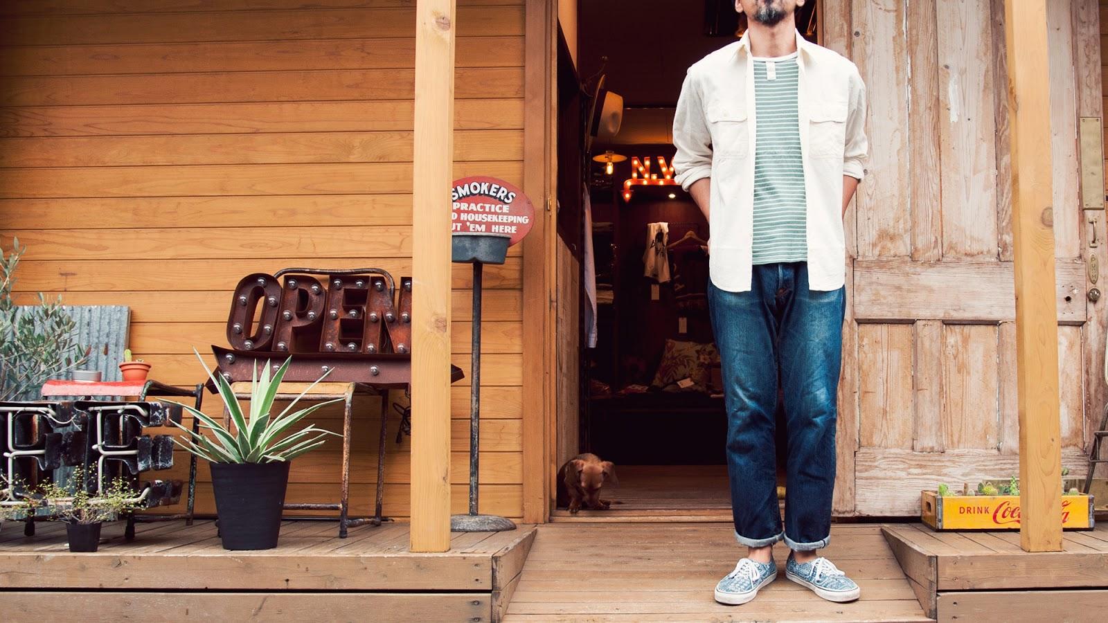 白シャン ワークシャツ WORS SHIRT 日本製