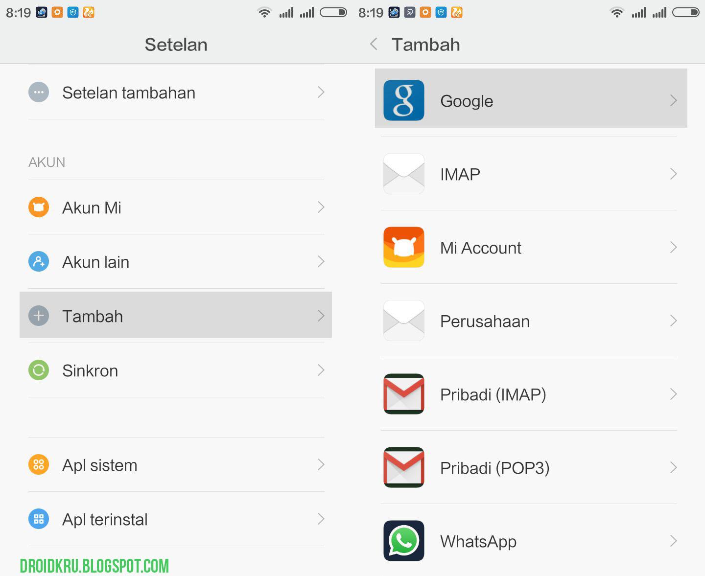 Cara Mengatasi Gagal Login Akun Google Di Xiaomi Droid Kru