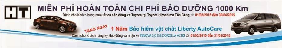 [Khuyến mãi mua xe Toyota tháng 03/2015] Nhân đôi an tâm khi mua xe tại Toyota Tân Cảng