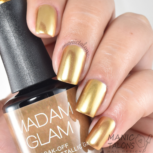 Madam Glam Metallic Gel Metallic Gold Swatch