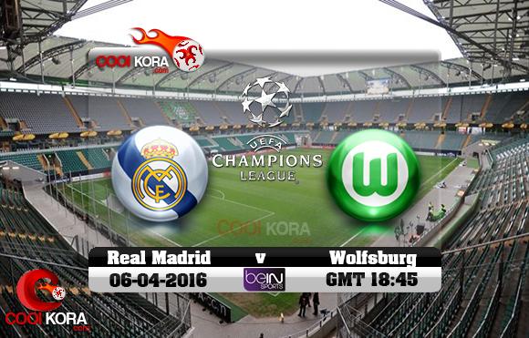 مشاهدة مباراة فولفسبورج وريال مدريد اليوم 6-4-2016 في دوري أبطال أوروبا