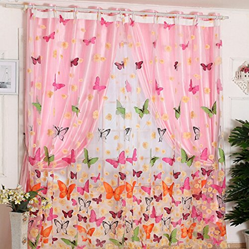 Butterfly Window Curtain Panel