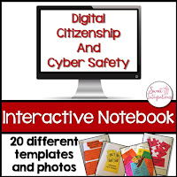 Digital Citizenship and Cyber Safety Interactive Notebook resource - click to purchase on TpT