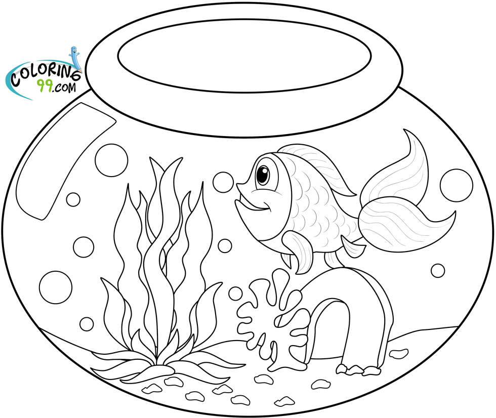 goldfish coloring pages - photo#10