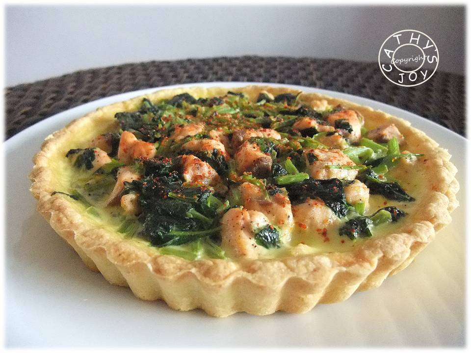Cathy S Joy Spinach Amp Salmon Quiche