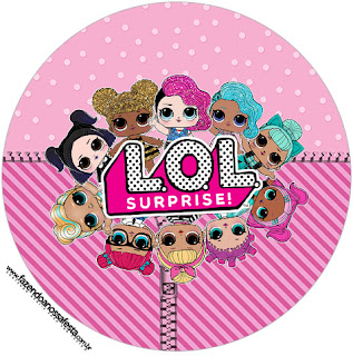 LOL Surprise Free Printable Cupcake Wrapper and Toppers.