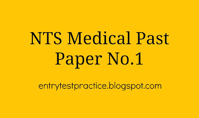 NTS MCAT Past Paper 1