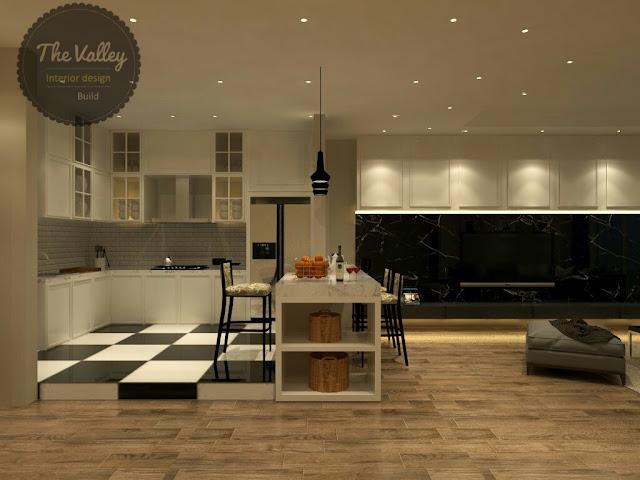 Desain Interior Kitchen Set Mewah - The Valley Interior Design