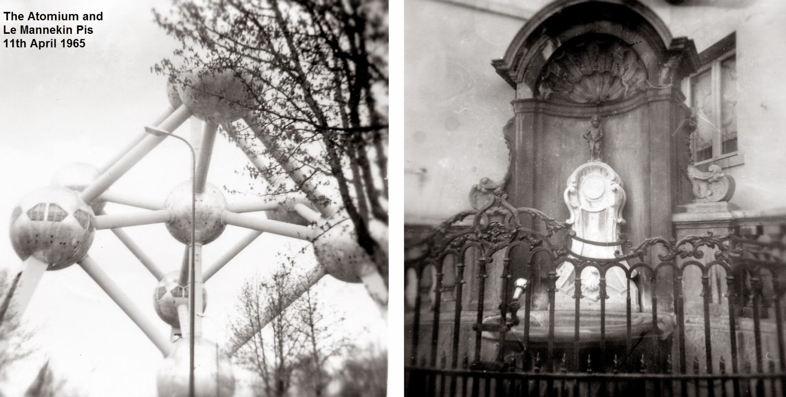 Atomium and Mannekin Pis 1965