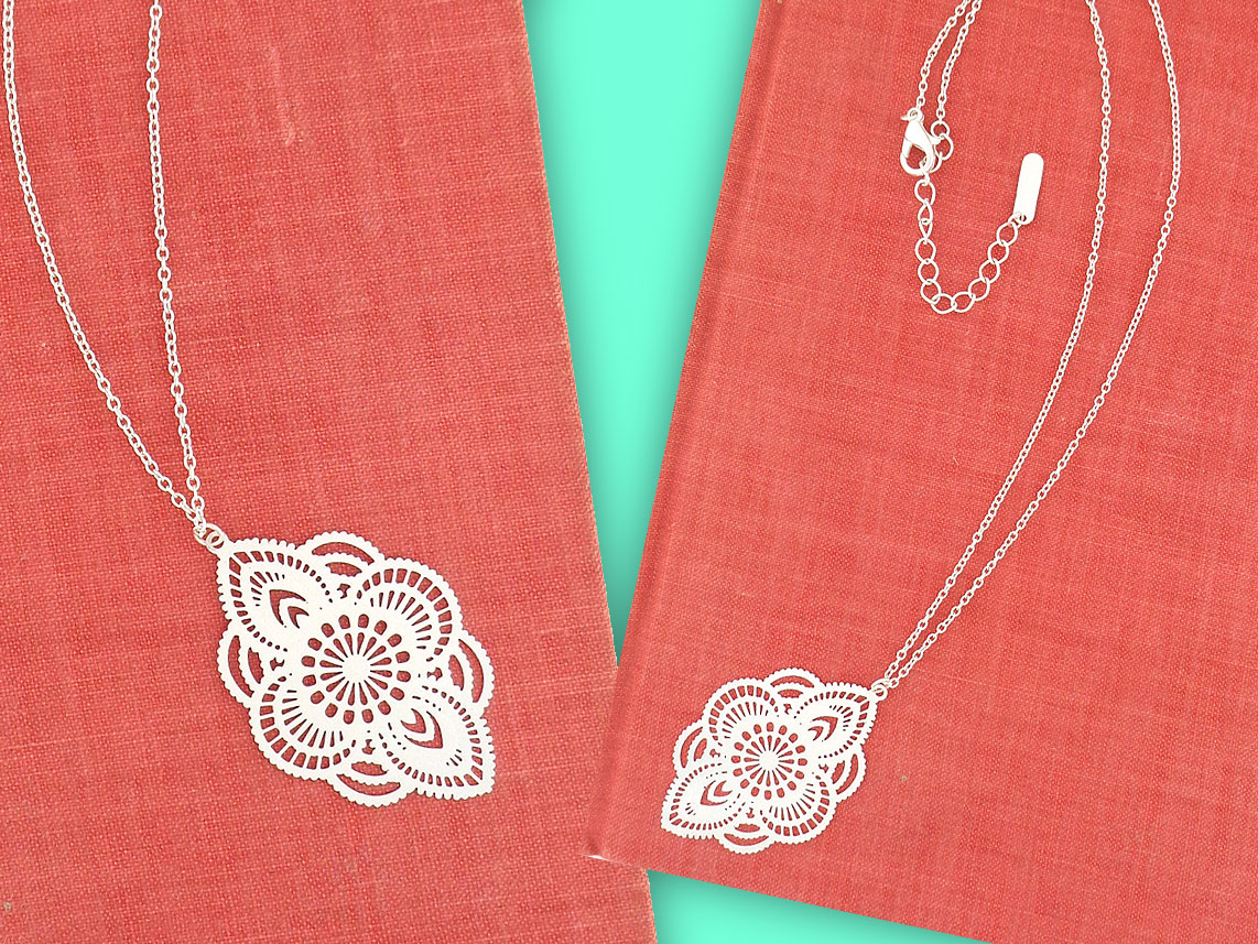 LAVISHY filigree pendant necklace. Wholesale available at www.lavishy.com