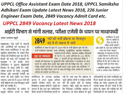 UPPCL Office Assistant Admit Card 2018 Stenographer