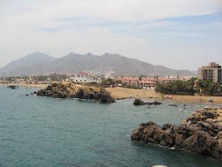Playa del Puerto de Mazarrón (Murcia, España)